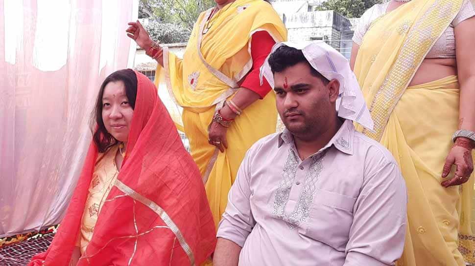 Chinese woman travels to Madhya Pradesh's Mandsaur, marries her long-term boyfriend as per Indian rituals