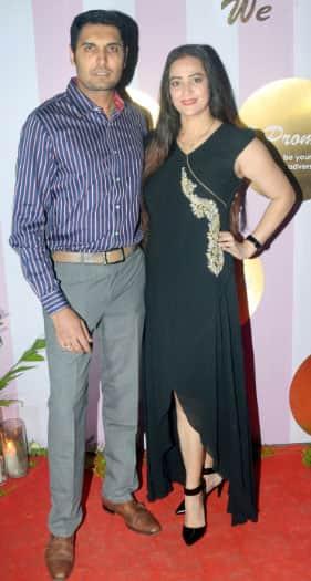 TV actress Jaswir Kaur with husband