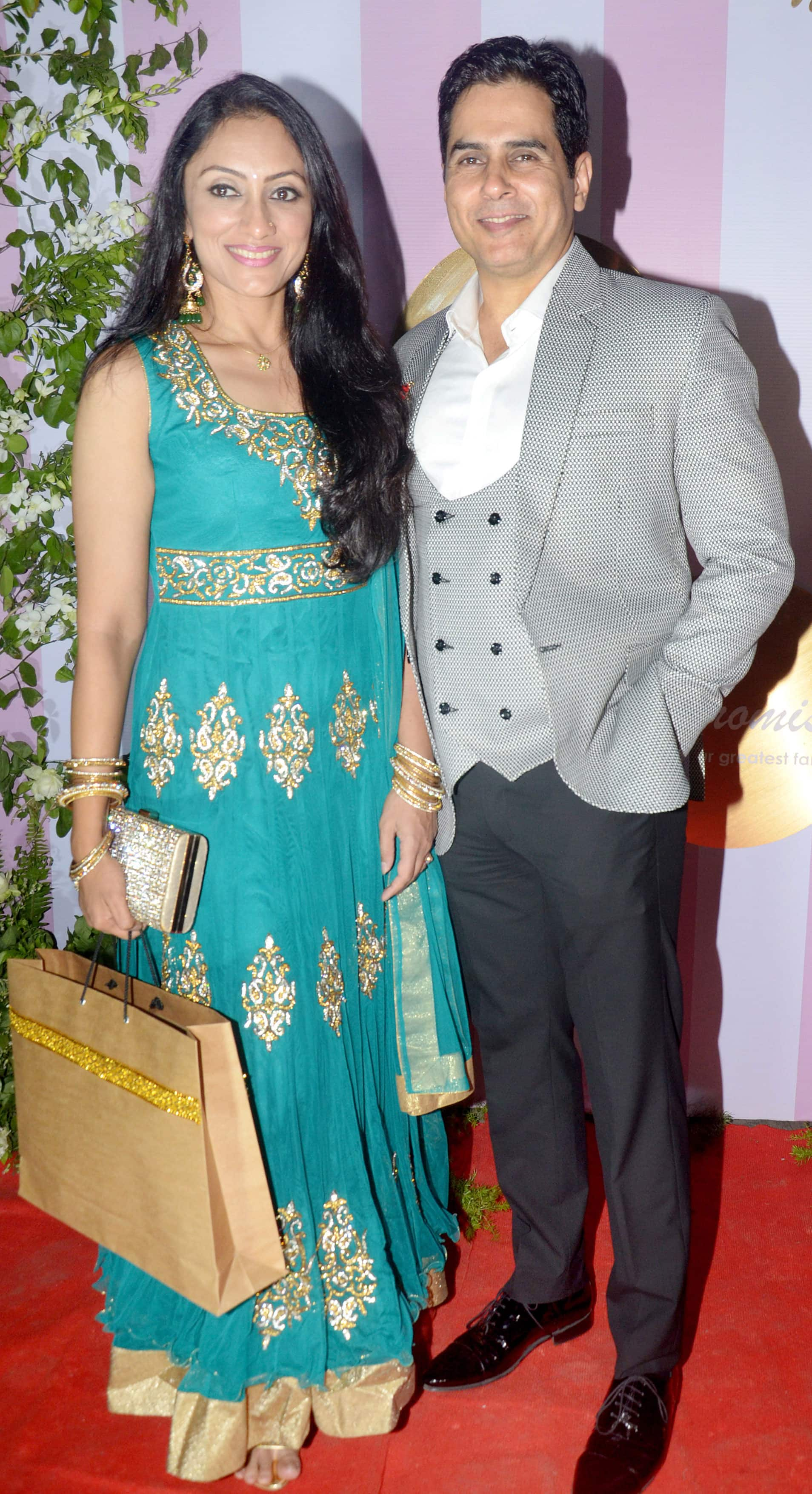 Aman Verma with wife