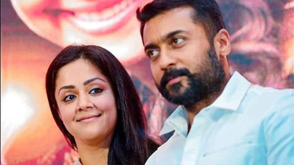 Suriya shares a 'happy selfie' with wife Jyothika | Regional News | Zee News