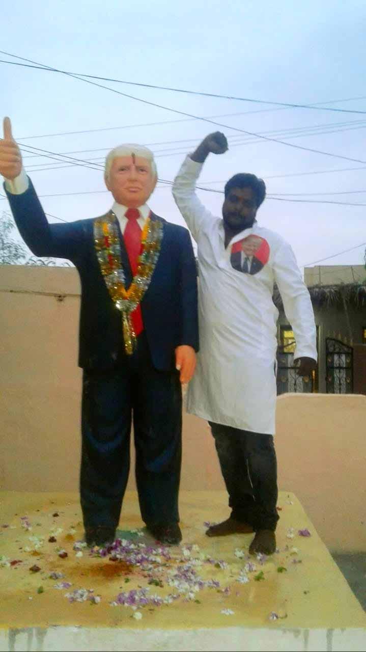 Trumps fan in India