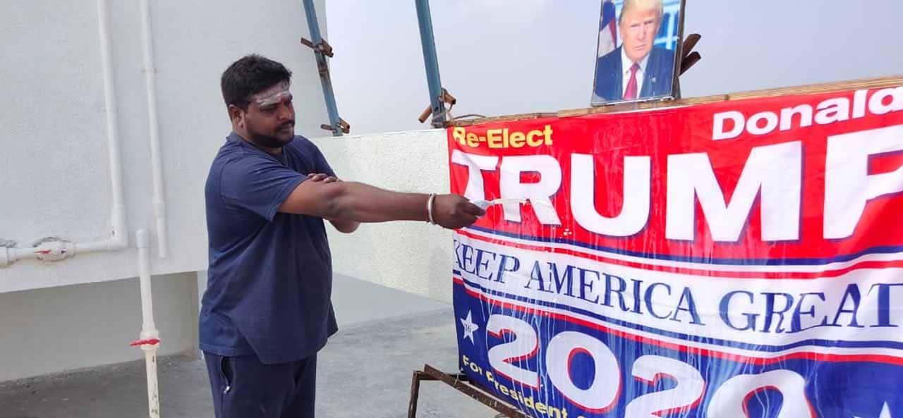 Trump fan in India