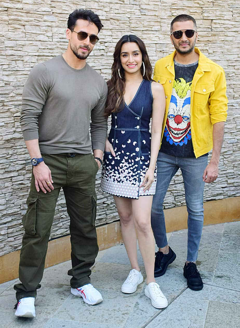 Tiger with Shraddha and Riteish