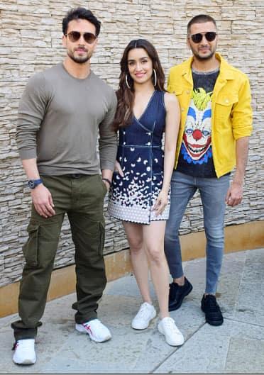 Tiger Shroff with Shraddha and Riteish