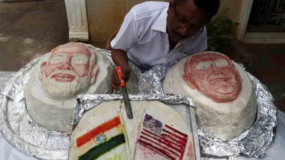 Tamil Nadu food artist prepares 107 kilo idli as a welcome gesture to President Trump