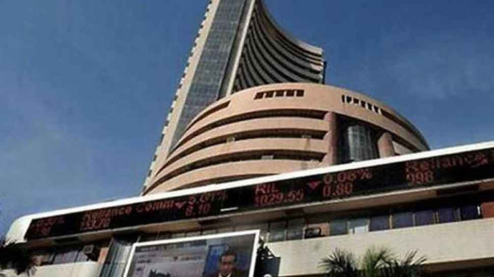 Sensex down 350 points, Nifty opens at 11693.40; Nestle, Asian Paints, SBI gain