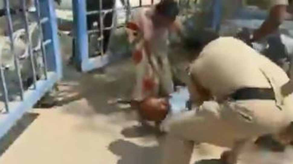 Telangana cop caught on camera kicking man grieving for his dead daughter, probe ordered