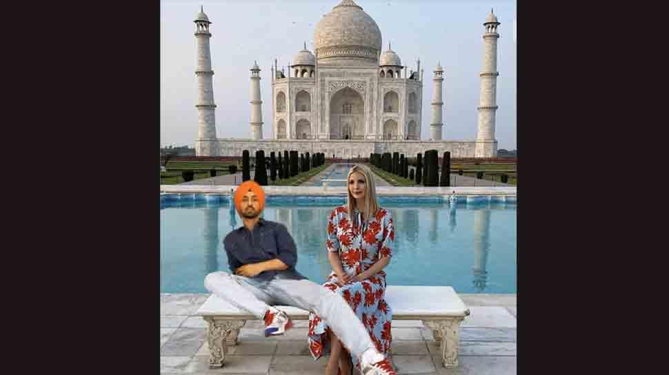Ivanka Trump Thanks Diljit Dosanjh For Taking Her To Taj Mahal Netizens Have A Field Day Viral News Zee News