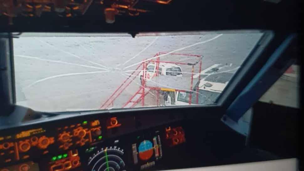 Air Asia flight from Kolkata makes emergency landing after hailstorm cracks windshield