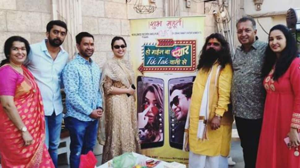 Aamrapali Dubey and Dinesh Lal Yadav attend muhurat ceremony of new film 'Ho Gayil Ba Pyaar Tik Tok Walli Se' - Deets inside