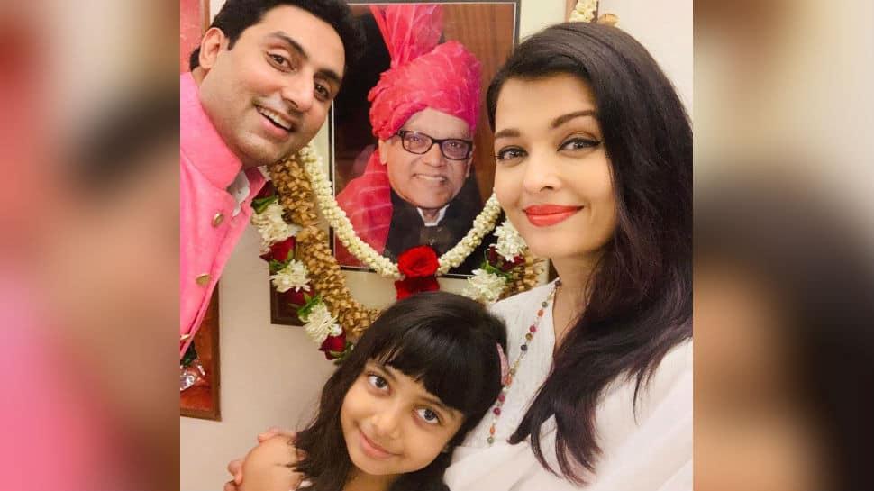 Aishwarya Rai Bachchan, Abhishek Bachchan and Aaradhya remember her father Krishnaraj Rai on death anniversary