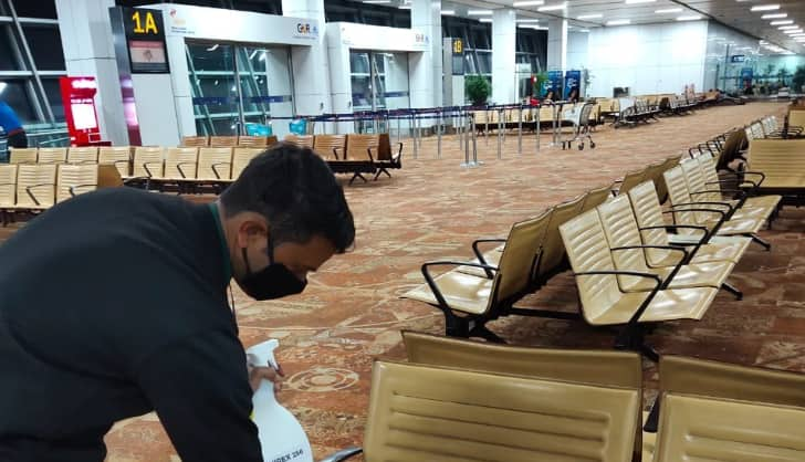 In Pics: How coronavirus fighters are keeping Delhi Airport clean and COVID-19 free