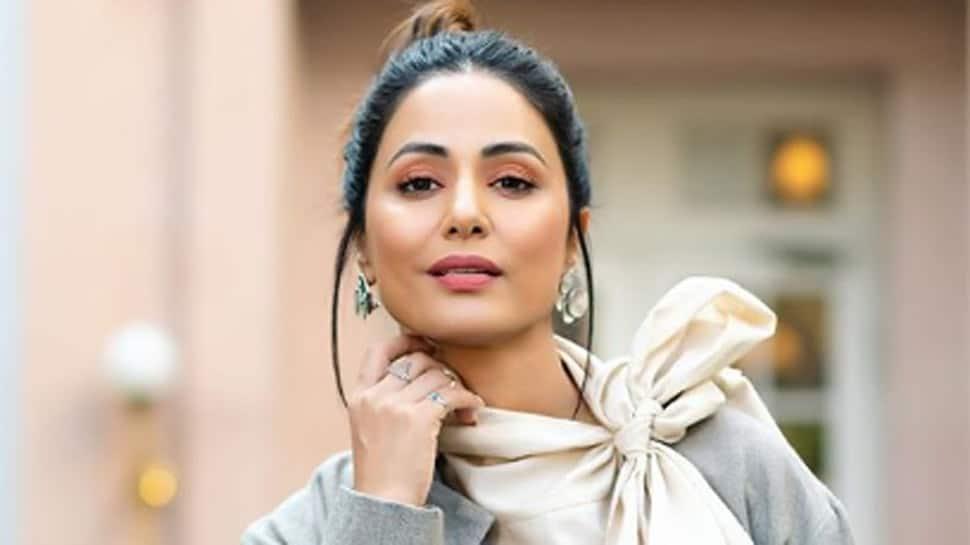 Hina Khan washes doormat, urges all to 'keep spirits high' amid lockdown - Watch