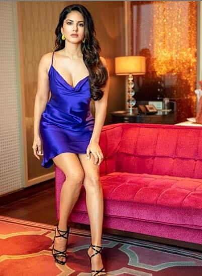 Sitting pretty, Sunny Leone!