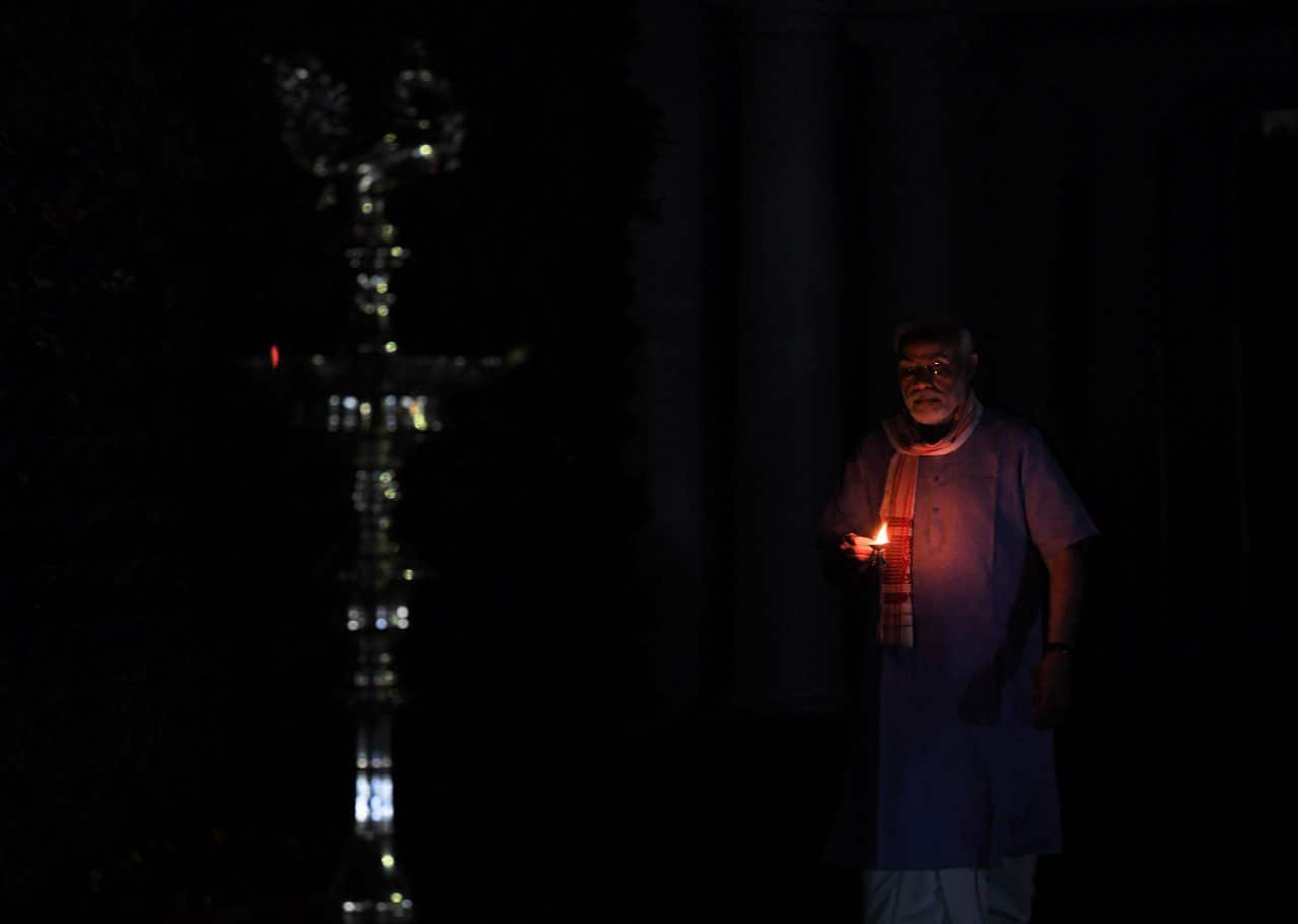 PM Modi lights up diya