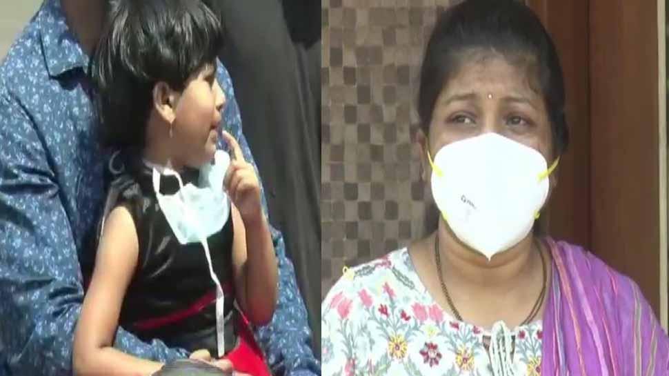 Coronavirus COVID-19 pandemic: Karnataka nurse, daughter break down on seeing each other after 2 weeks