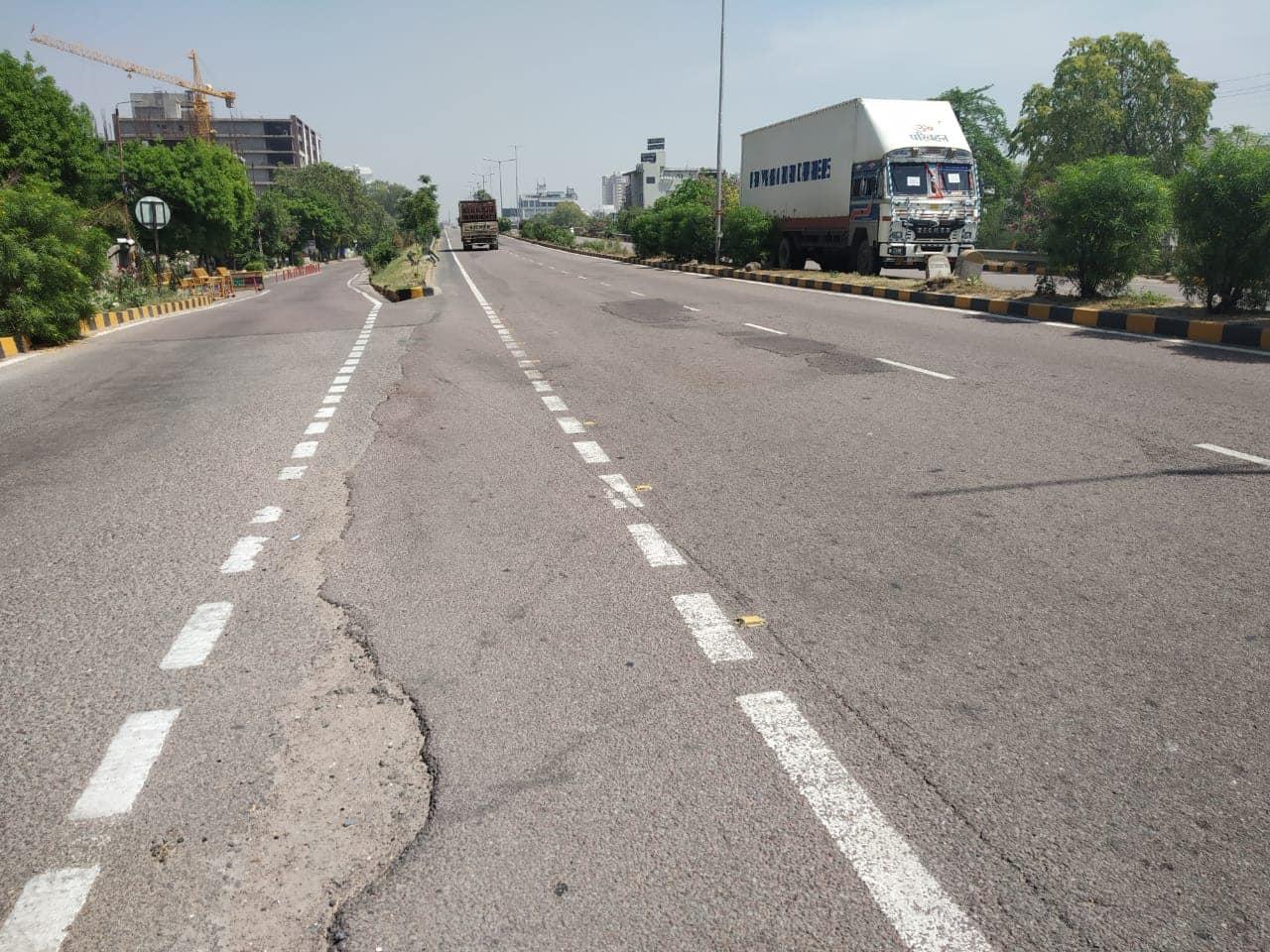Lockdown in Gomti Nagar, Lucknow