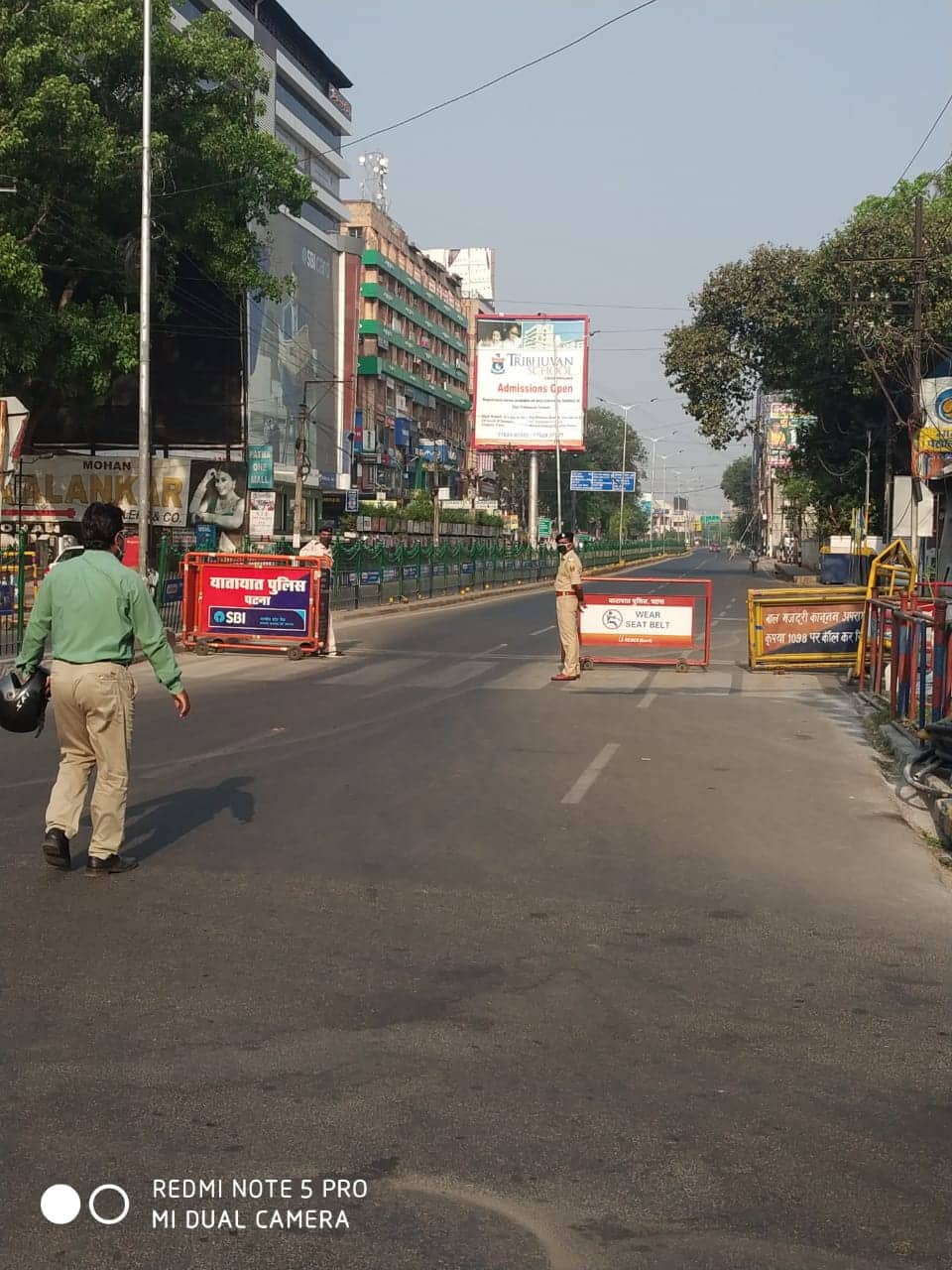 Roads wear deserted look on Day 20 of lockdown
