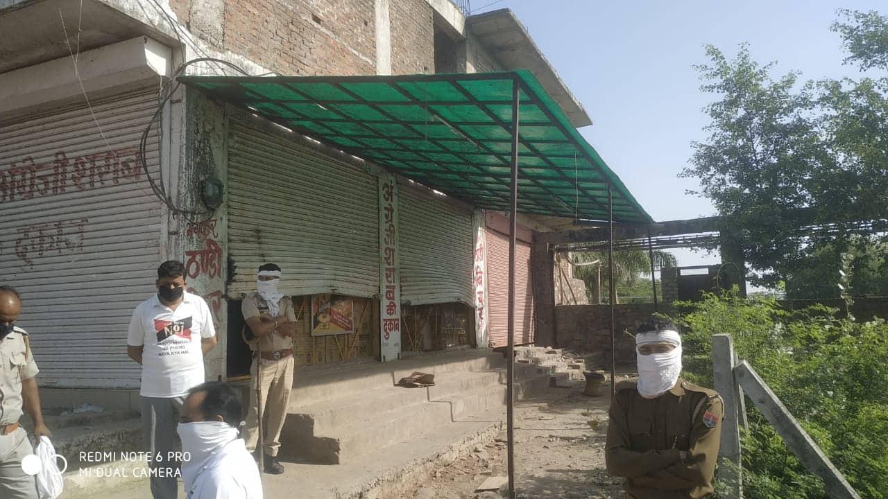 Liquor shop in Kota, Rajasthan