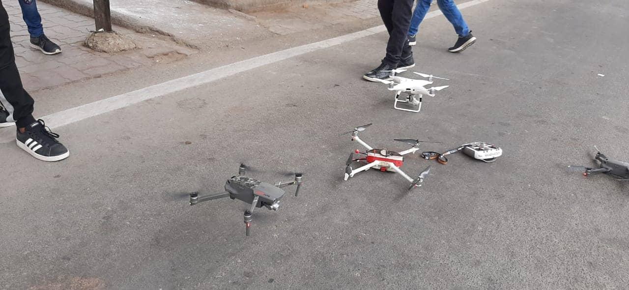 Drones used in Patna