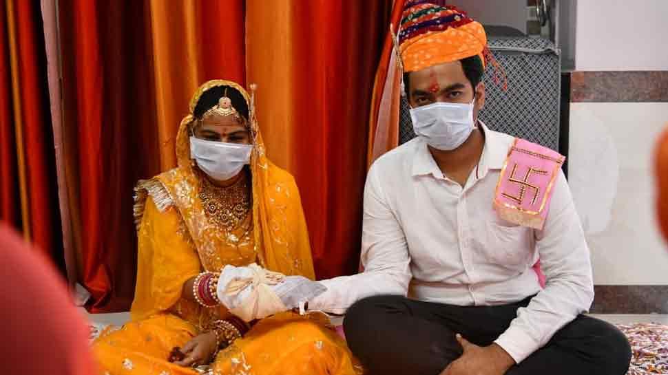 Jodhpur doctor couple follow coronavirus COVID-19 lockdown rules while getting married: Watch