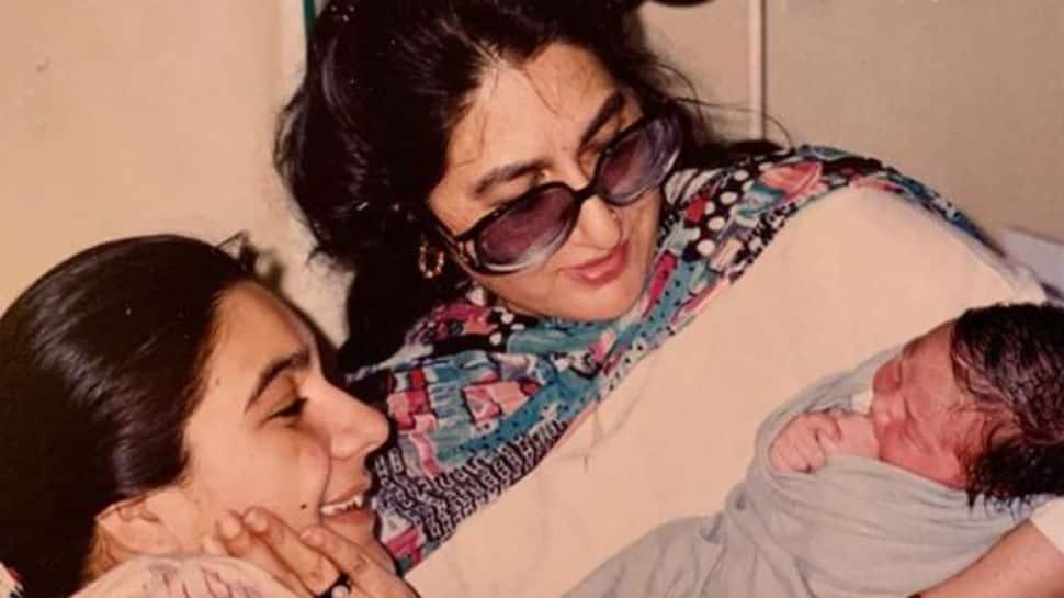 Happy Mother's Day 2020: Sara Ali Khan posts rare pic with mom Amrita Singh and 'maa ki maa' Rukhsana Sultana