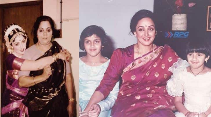 We Bet You Haven T Seen These Treasured Pics Of Hema Malini With Her Mother Daughters Esha And Ahana People News Zee News