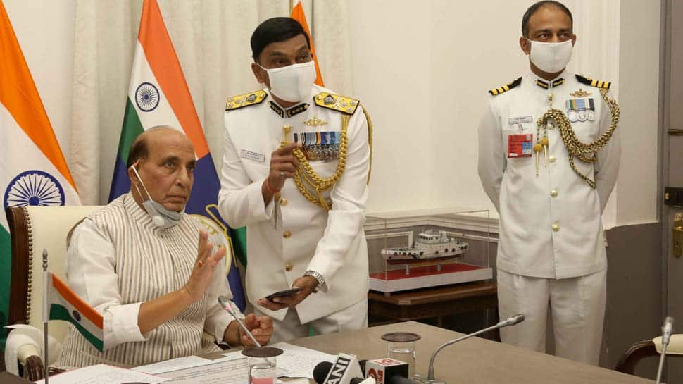 Defence Minister Rajnath Singh commissions Indian Coast Guard Ship 'Sachet', two interceptor boats