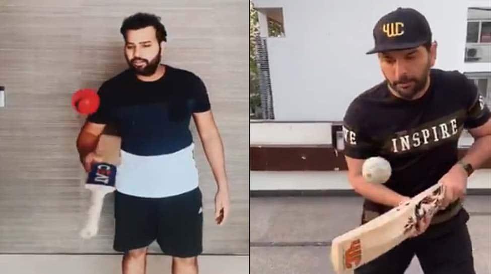 Rohit Sharma gives Yuvraj Singh's 'Keep It Up' challenge a twist