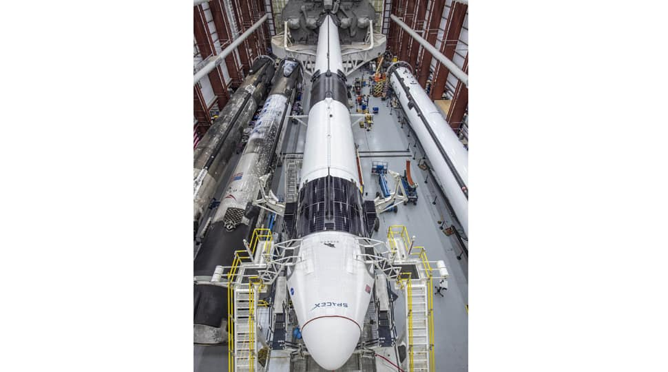SpaceX releases photos of Crew Dragon's integration with Falcon 9 rocket before May 27 liftoff