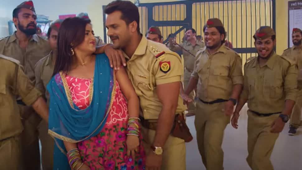 Khesari Lal Yadav-Akanksha Awasthi's 'A Ho Madame Ji Maan Jaiye' song from 'Dabang Sarkar' creates a storm online - Watch