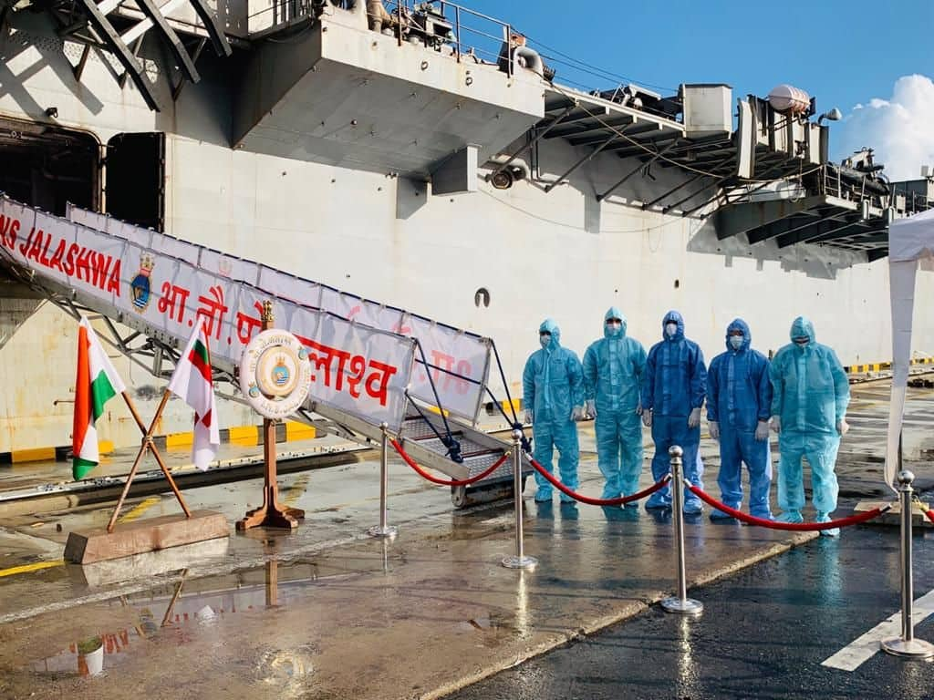 Indian Navy ship INS Jalashwa will sail from Colombo Port on Monday (June 1, 2020) to bring back 700 stranded Indians under the second phase of operation Samudra Setu