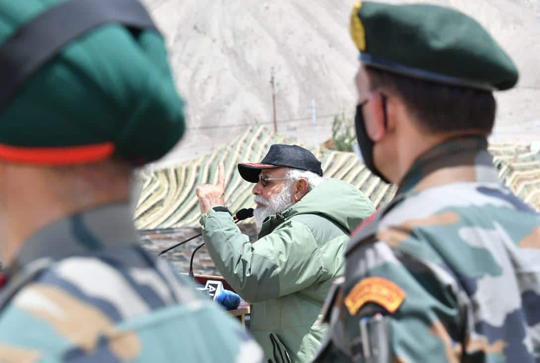 PM Narendra Modi in Ladakh