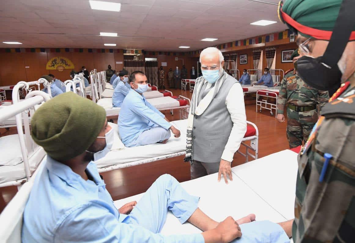 PM Modi visits injured soldiers