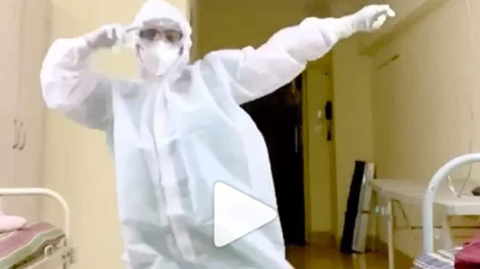 Trending: Doctor dancing to Nora Fatehi-Varun Dhawan's 'Garmi' song wearing PPE kit goes viral - Watch
