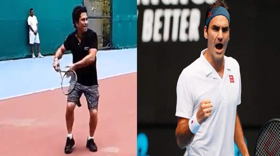 Any tips for my forehand? Sachin Tendulkar asks Roger Federer