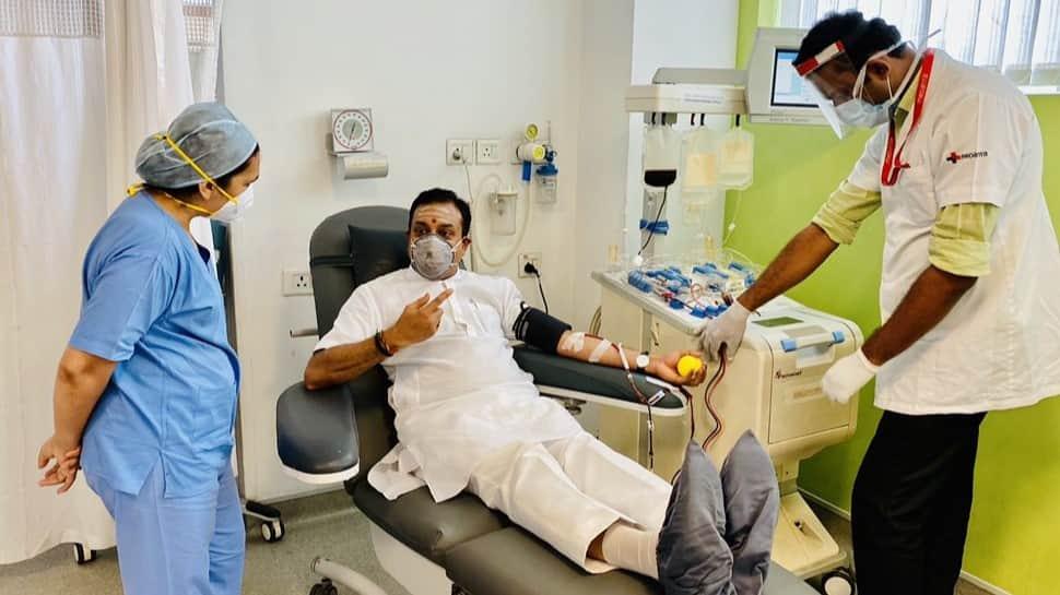 Sambit Patra donates plasma after recovering from coronavirus