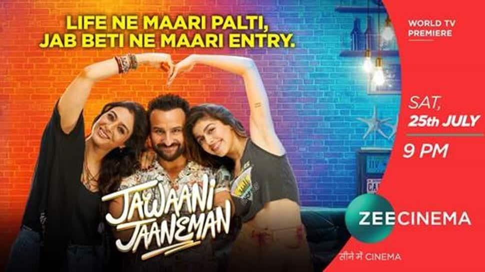 World Television Premiere of the uber-cool film 'Jawaani Jaaneman' on Zee Cinema