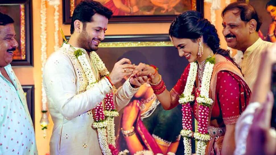 Telugu star Nithiin gets engaged to ladylove Shalini, posts pic on social media!