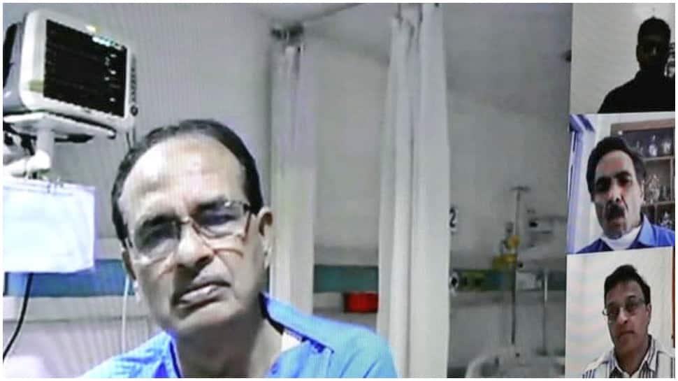 Madhya Pradesh CM Shivraj Singh Chouhan reviews coronavirus COVID-19 situation from hospital