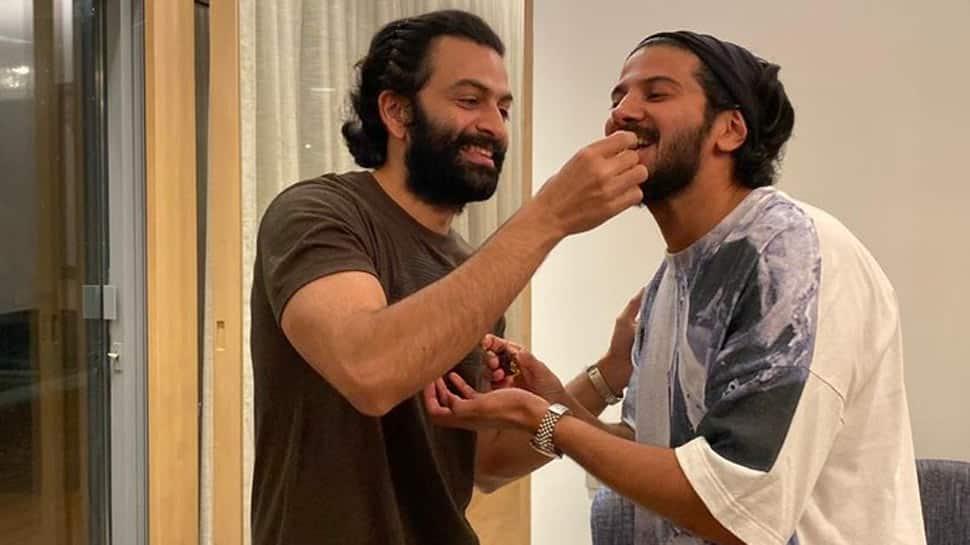 Prithviraj Sukumaran's viral pic with the birthday boy and 'best burger chef' Dulquer Salmaan!