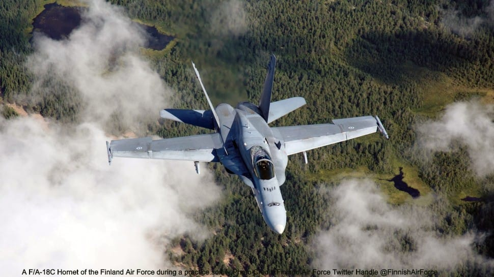 Finland's F/A-18C Hornets intercept Russian Sukhoi Su-27s, Moscow denies Helsinki's charge of airspace breach