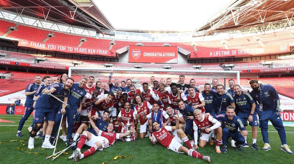 Pierre-Emerick Aubameyang's brace helps Arsenal beat Chelsea for 14th FA Cup trophy