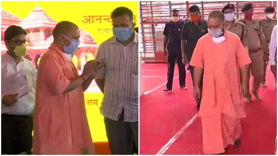 Ahead of Ram temple 'bhoomi pujan', Uttar Pradesh CM Yogi Adityanath reaches Ayodhya, asks devotees to light lamp at home