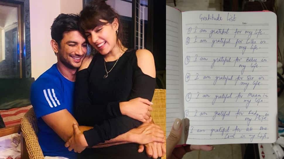 Rhea Chakraborty shares a page from Sushant Singh Rajput's diary, says 'the only property of actor I possess'