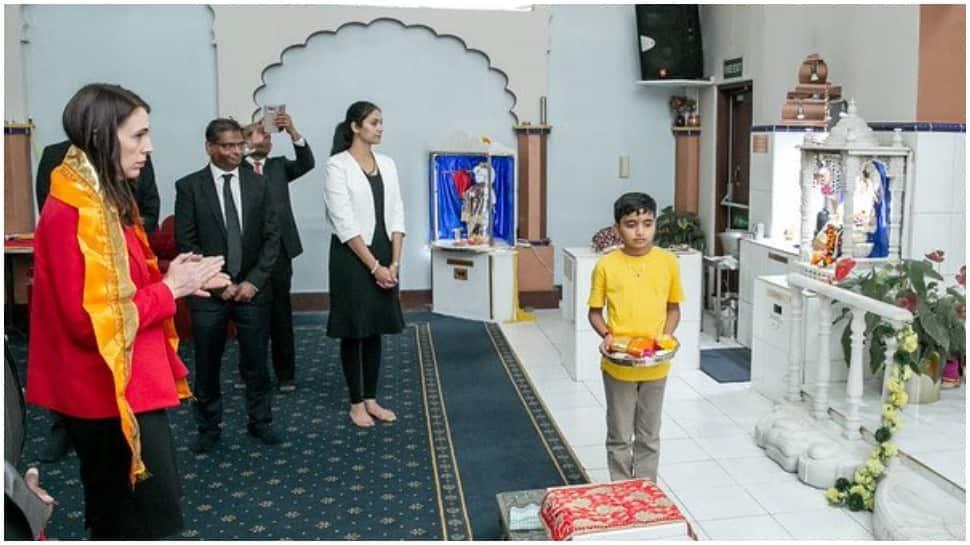 New Zealand PM Jacinda Ardern visits Radha Krishna Temple ahead of national elections