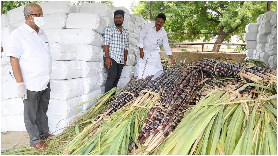 Tirumala Tirupati Devasthanams employee donates 12 tons of sugarcane to 'SV Goshala'