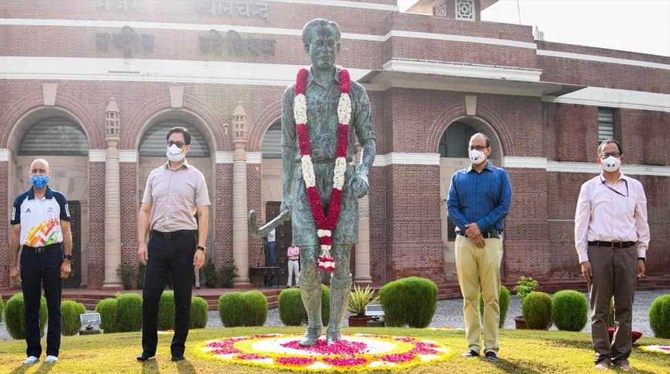 Kiren Rijiju pays tribute to Major Dhyan Chand on his 115th birth anniversary