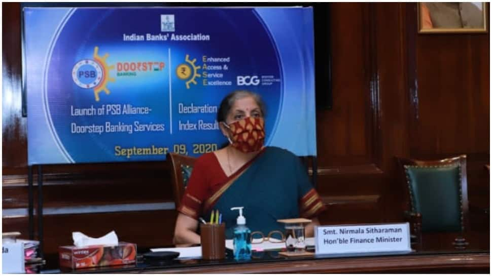 FM Nirmala Sitharaman unveils Doorstep Banking Services by PSBs, declares EASE 2.0 Index results