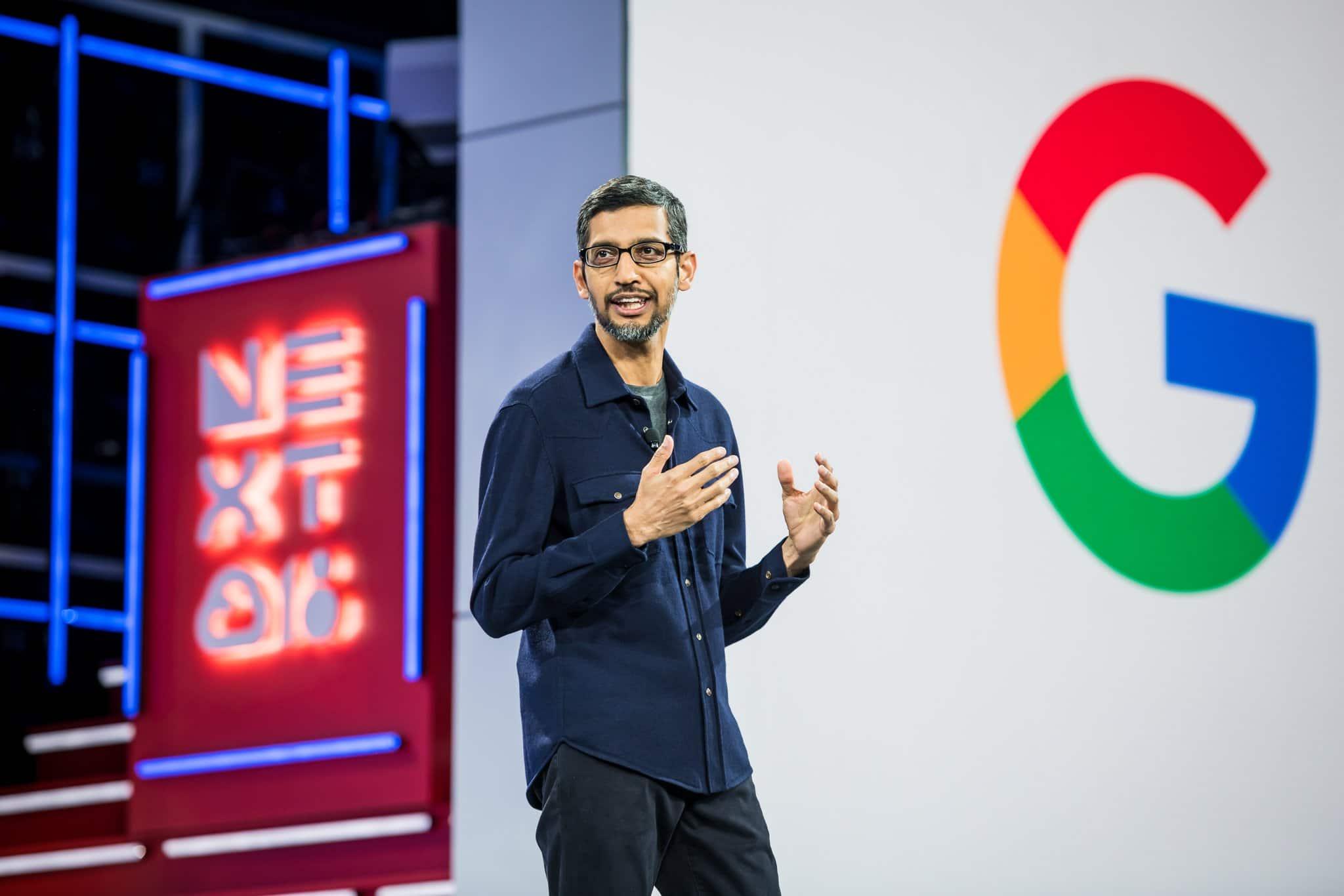 Google and Alphabet CEO Sundar Pichai